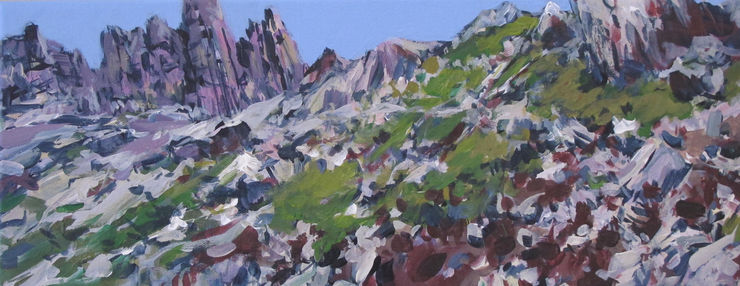 At the Lagazuoi, Dolomits, painting No. 6543 / acrylic on canvas