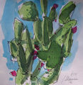 cactus pear, painting No. 4354