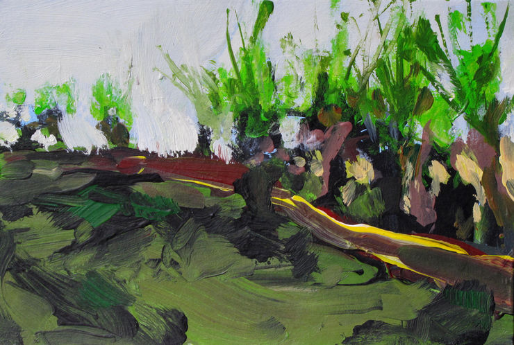 pollard willows, painting Nr. 7050 / acryl auf Karton